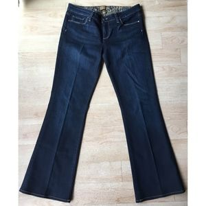 Paige Dark Wash Canyon Boot Cut Jeans Size 32